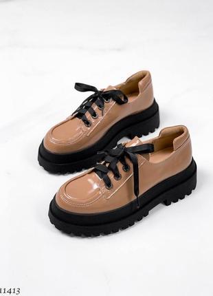 Туфли карамель кожа