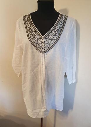 Рубашка блуза лен