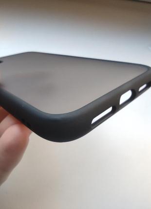 Чёрный чехол силикон + пластик для на айфон iphone 113 фото