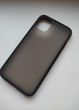 Чёрный чехол силикон + пластик для на айфон iphone 11