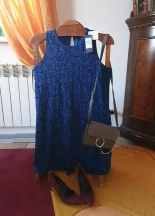 Нарядное платье кобальт