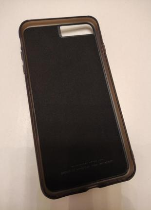 Чехол с кармашиком для карточек на магните для на iphone 8 plus2 фото