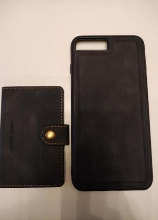 Чехол с кармашиком для карточек на магните для на iphone 8 plus3 фото