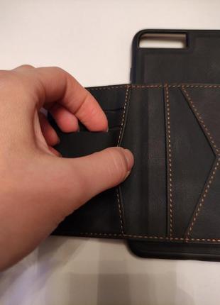 Чехол с кармашиком для карточек на магните для на iphone 8 plus4 фото