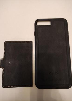 Чехол с кармашиком для карточек на магните для на iphone 8 plus7 фото