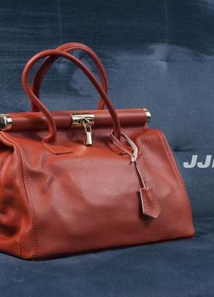 Кожаная сумка jjb benson, италия женская