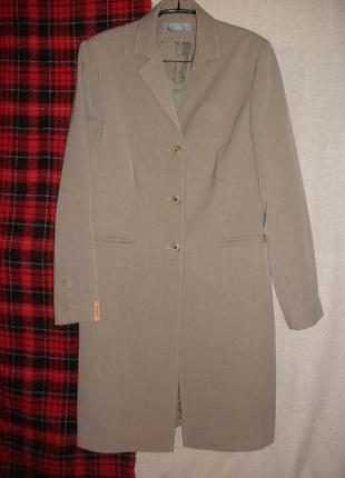 Длинный жакет пиджак легкое пальто wallis классика