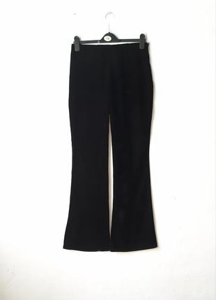 Бархатные брюки клеш