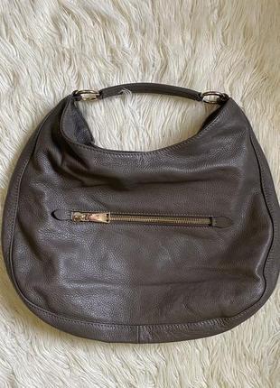 Кожаная сумка мешок abro