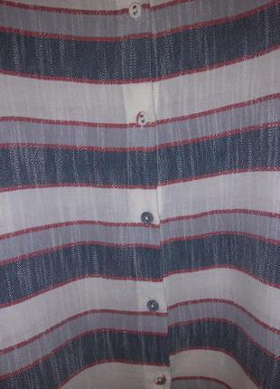 Стильный кроп-топ / блузка в полоску laura ashley (100% хлопок)6 фото