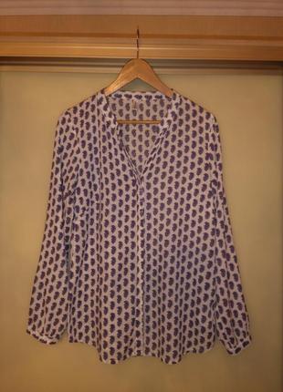 Батистовая рубашка / блузка в принт soyaconcept (дания) 100% хлопок)