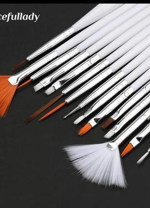 Набор кистей для маникюра ✨ кисточки для рисования, кисть для геля