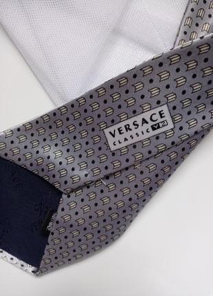 Серый галстук краватка серый versace classic3 фото