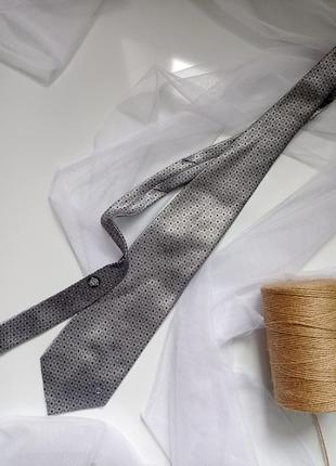 Серый галстук краватка серый versace classic1 фото
