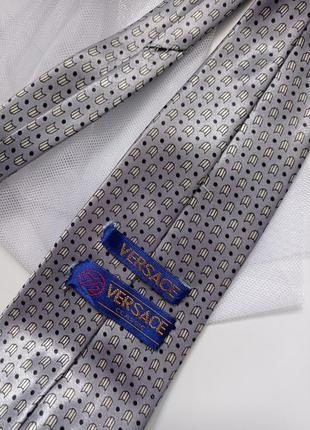 Серый галстук краватка серый versace classic2 фото