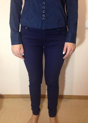 Зауженные тёмно-синие штаны calliope