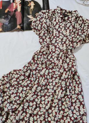 Kerena англия чудесное платье миди в цветочный принт uk 10