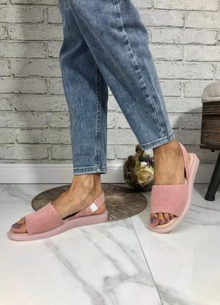 Стильные босоножки сандалии шлёпки тапочки натуральная замша