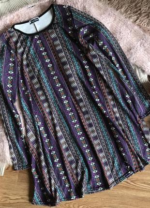 Свободное платье с принтом (s/m)