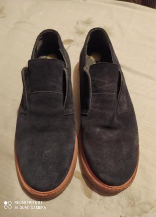 Туфли замша+кожа