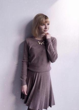 Трикотажная плиссированная юбка