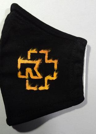 Маска rammstein тканевая с росписью