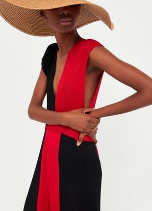 Платье zara knit из вискозы лимитированная коллекция