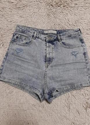 💙шорты джинсовые високая посадка от bershka