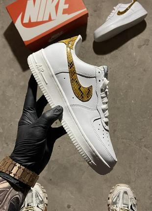 Кеды nike air force 1 low snake white