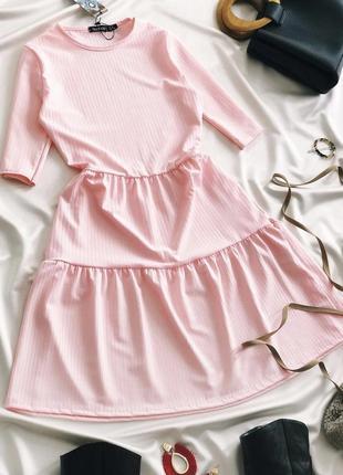 Платье в рубчик #платье