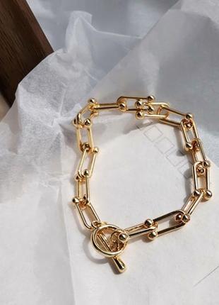 Модный браслет цепь на руку цепочка на запястье - тренд бижутерии цепи