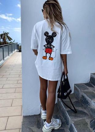 Трендовая футболка  платье туника новинка сезона