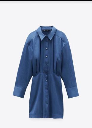 Стильное платье рубашка zara