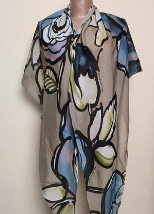 Батистовый платок шаль цветочный принт  manila grace /2984/