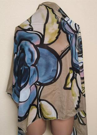 Батистовый платок шаль цветочный принт  manila grace /2984/2 фото