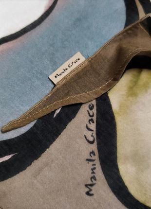 Батистовый платок шаль цветочный принт  manila grace /2984/4 фото