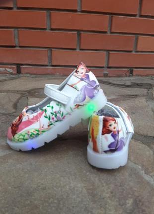Туфли с led подсветкой с мигалками,балетки,мокасины для девочки