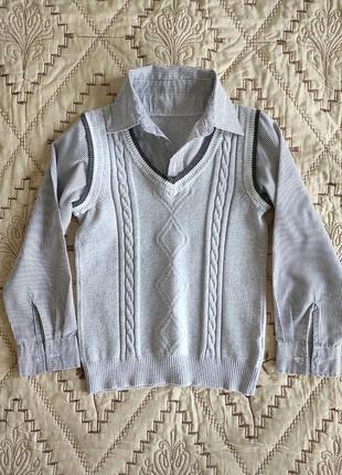 Кофта-рубашка 2-в-1