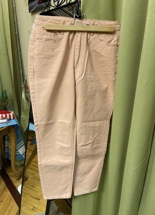 Плотные джинсы персиковые edited