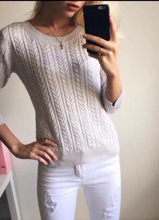 Серый свитер н&м