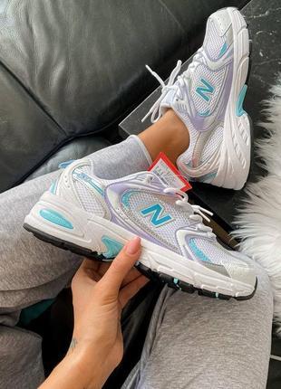 Женские кроссовки new balance 530 silver blue