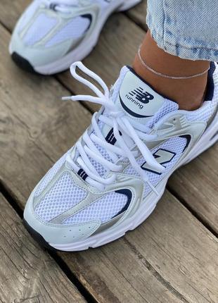 Женские кроссовки new balance 530 white silver2 фото