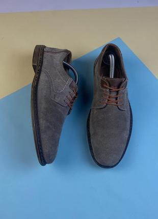 Шикарные замшевые туфли дерби rieker
