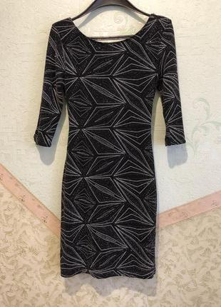 Блестящее платье по фигуре