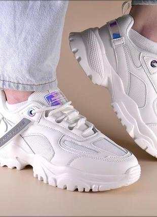 Женские кроссовки lite industry white