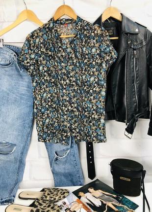 Блуза шифоновая в цветочный принт