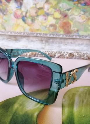 Эксклюзивные брендовые прозрачные голубые солнезащитные женс очки крутые