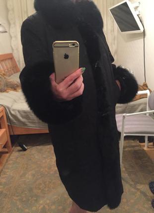 Пальто на натуральном  меху