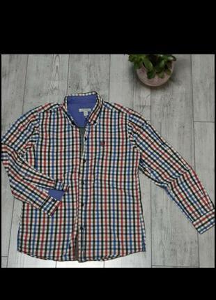 Рубашка  в клетку хлопок  на 12-13-14лет  на рост 146-158 см