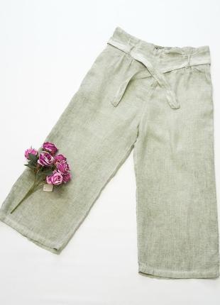 Льняные брюки, кюлоты, италия, лен.